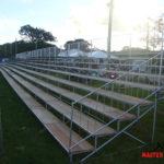 Estrutura completa pisos, arquibancada e palco