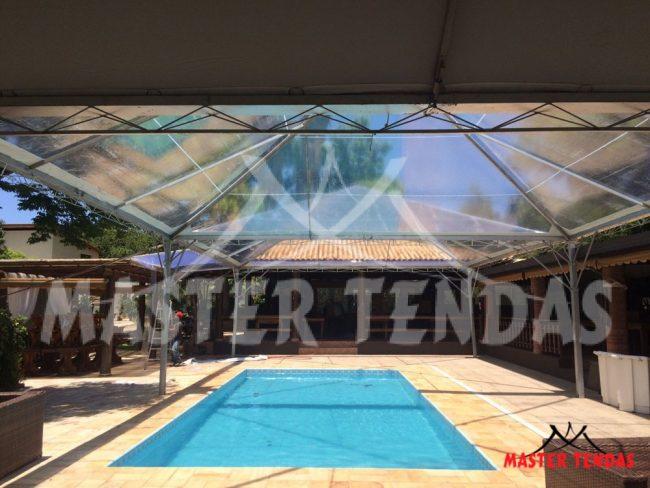 Tenda piramide cobertura para piscina