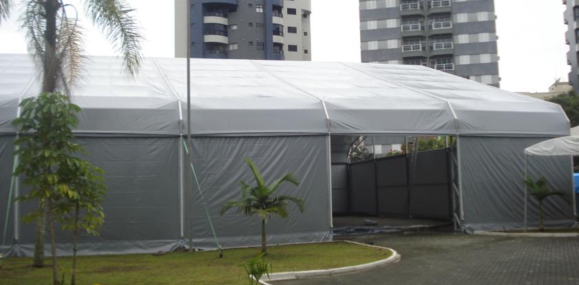 tendas especiais cinza